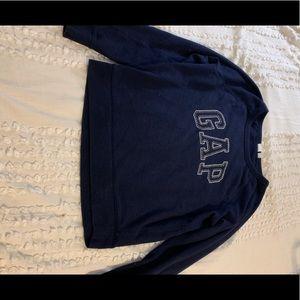 navy gap pullover